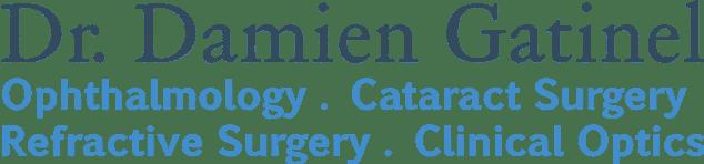 Dr. Damien Gatinel, Ophtalmologie - Chirurgie de la cataracte, Chirugie réfractive - Optique clinique