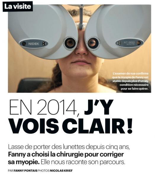 Article chirurgie myopie au laser 2014 le Parisien Dr Damien Gatinel
