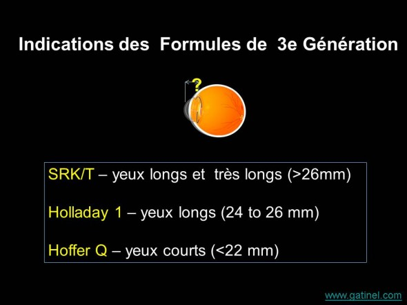 indications preferentielles formules 3e generation