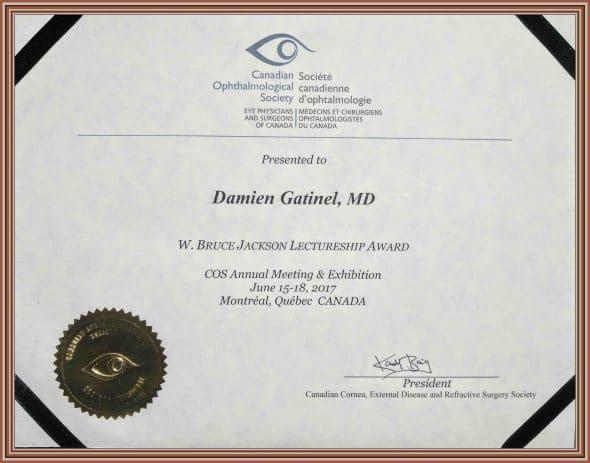 Damien Gatinel Award