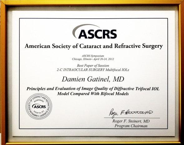 Prix ASCRS 2012 award