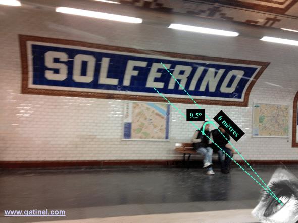 affichage métro et critères requis pour une acuité visuelle suffisante
