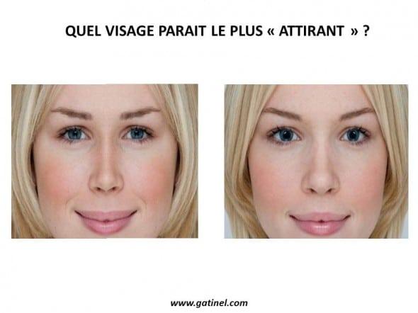 effet du diamètre pupillaire sur la perception d'un visage