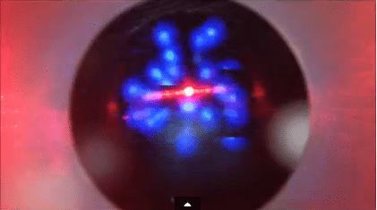 tirs au laser excimer vu par iPhone