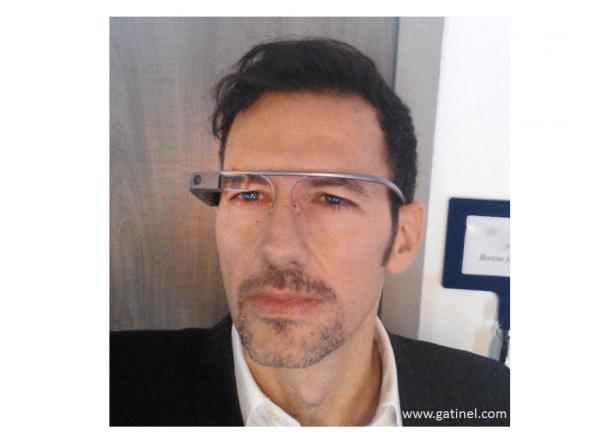 damien gatinel équipé des Google glass