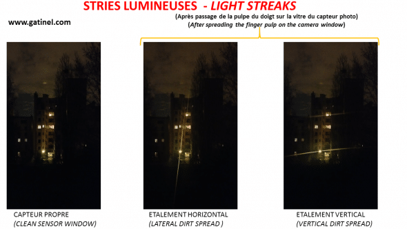 light streaks by a smartphone camera
