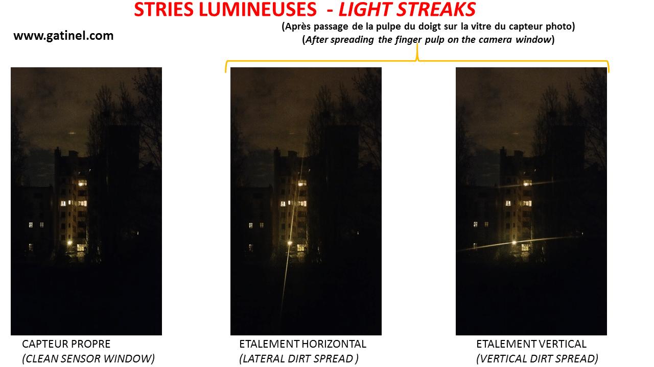 Light streaks / stripes of light - doctor Damien Gatinel