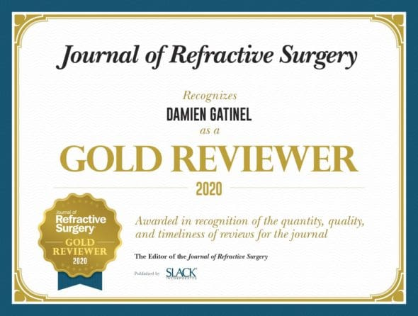 gold reviewer damien gatinel journal of refractive surgery