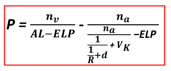 IOL power formula thin lens